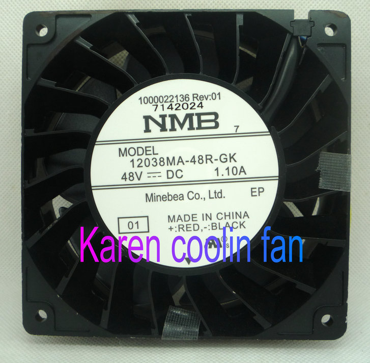 NMB 12CM 12038 48V 1.1A 12038MA-48R-GK 4Wire Cooling Fan new original delta 12cm tha1248be 12038 48v 2 6a cooling fan