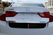 For Honda City 2014 2015 2016 stainless steel Right Rear Gate Tail Lift Gate Lid Door Cover Trim
