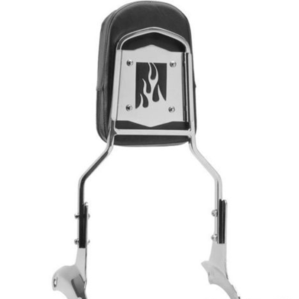 Chrome Flame Motorcycle Rear Passenger Backrest Sissy Bar Cushion Pad Kit For Honda Shadow ACE 750 400 VT400 VT750 VT 400 /750 316mm motorcycle rear brake discs rotor for honda vt 250 ntv 600 ntv 650 cb 750 vf 750 vt1100 shadow