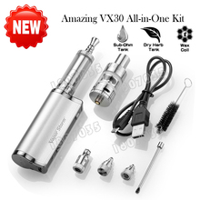 Amazing!! Electronic Cigarette kit Vapor Storm VX30 3-in-1 30W Dry herb vaporizer E-Liquid Smoke Atomizer Wax Burn Box Mod
