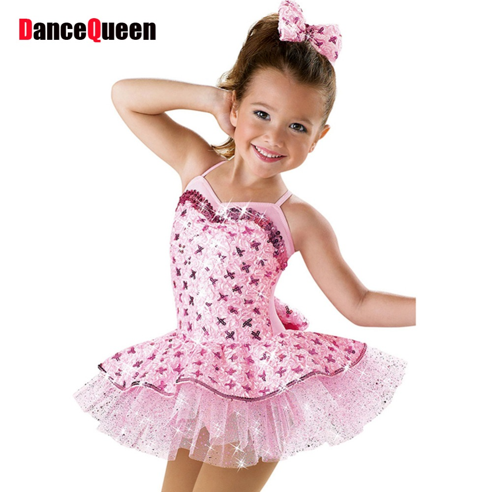 2018 New Child Professional Ballet Tutu Pink Girls Ballerina Dress ...
