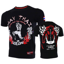 VSZAP I am a Muay Thai Printed Men T-Shirt MMA Sanda Fitness Tee Shirt Homme Sporting UFC Fighting Brand Clothing