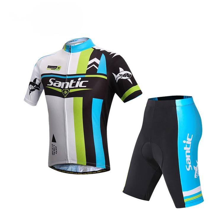 ФОТО SANTIC Cycling Sleeve Jersey Racing Sportswear Cycling Bicycle Bike Comfortable Outdoor Jersey Short Cyling Sets S-XXXL