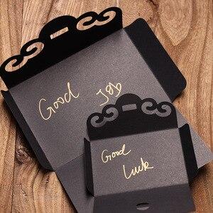 Image 2 - 50 pcs/lot créatif évider papier Kraft épaissir enveloppes pour anniversaire noël mariage écriture papier cadeau papeterie