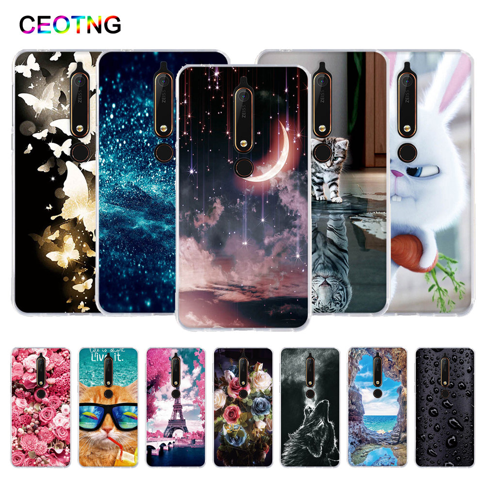 Silicone Case For Nokia 6 (2018) Soft TPU Back Cover For Nokia 6.1 Case Phone Shells For Nokia 6 2018 5.5 Inch Cover Fundas Bags