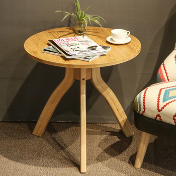 Stoliki do kawy meble do salonu drewniane meble domowe herbata stół basse minimalistyczny nowoczesny okrągły trójkąt owalne biurko 60*60*57 5 cm tanie i dobre opinie Meble do domu ROUND Nowoczesne China 80*37cm Ecoz Z litego drewna Montaż