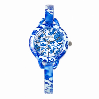 BEWELL Top Luxury Watch Antique Design Round Face Simulated Ceramics Strap Germs and Stone Watches for Ladies with Gift Box 079A