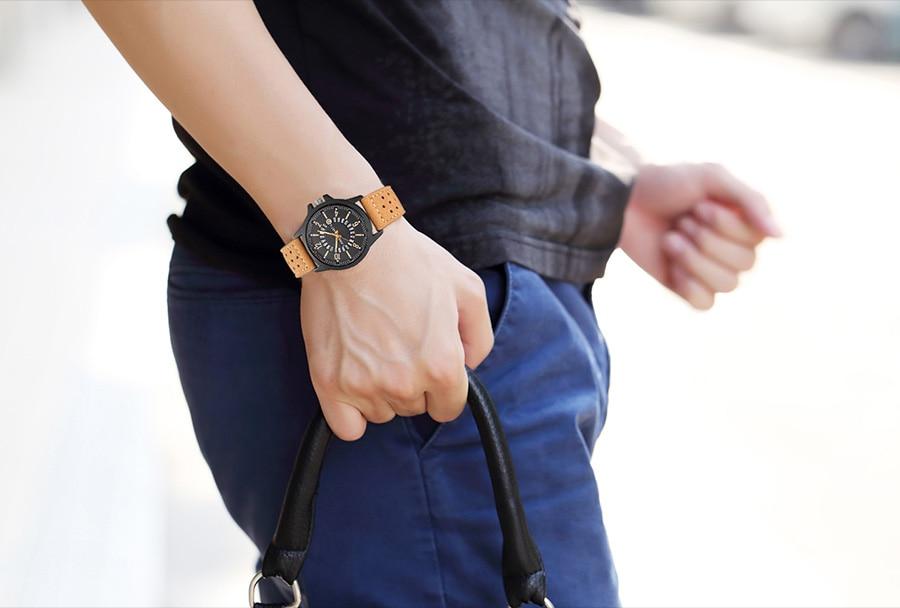 HTB166xdaiLxK1Rjy0Ffq6zYdVXan Men Wrist Watch Leather Casual Waterproof Calendar