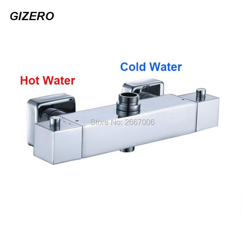 GIZERO Shower Faucet thermostatic valve Bathroom shower mixer Temprature Control Thermostat Mixing Valve GI914