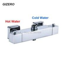 GIZERO Envío Libre Plaza Grifo de la Ducha válvula termostática ducha cuarto de Baño ducha mezclador Grifo De Válvula De Control Temprature GI914