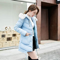 Qiu dong han edition dress woman coat cultivate one's morality show thin long eiderdown cotton coat