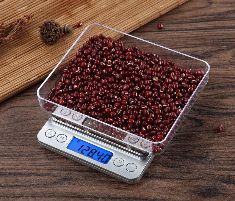 Portable font b Electronic b font Food Scales 3000g 0 1g Postal Kitchen Jewelry Weight Balance