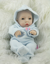 2016 New Arrival Free shipping 10 inch mini newborn baby doll realistic  full silicone babies reborn christmas gift