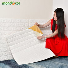 PE Foam Wall Panel 3D Stickers Safty Home Decor Wallpaper DIY Brick Living Room Kids Bedroom Decorative Sticker