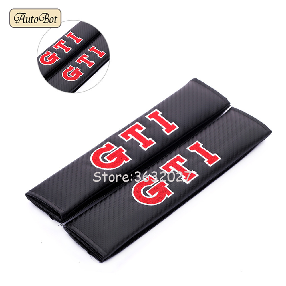 For VW GTI Seat Belt Cover Shoulder Padding For Volkswagen Polo Passat B6 B5 B7 Golf 4 5 6 7 Scirocco Touareg CC Tiguan Magotan