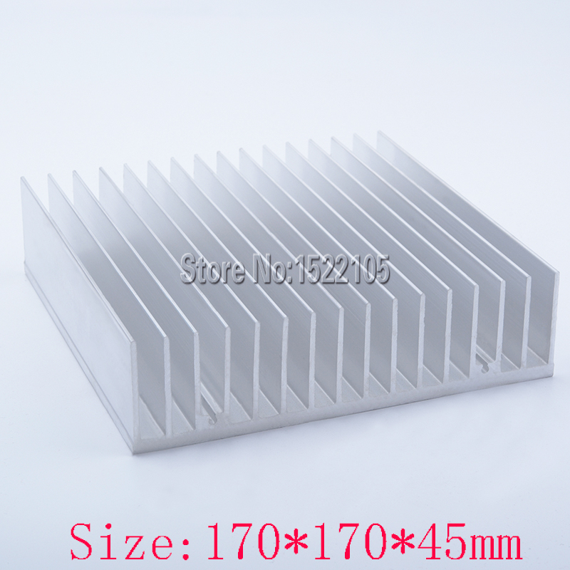 Heatsink 170x170x45mm superconductive Aluminum heatsink heat sink high power radiator for cooling 1 pcs aluminum radiator heat sink heatsink 60mm x 60mm x 10mm black