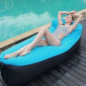 Image 1 - Vilead 5色高速折りたたみ怠惰なバッグキャンプサックレイバッグインフレータブル空気ソファ睡眠マットビーチベッドラウンジバッグポータブル