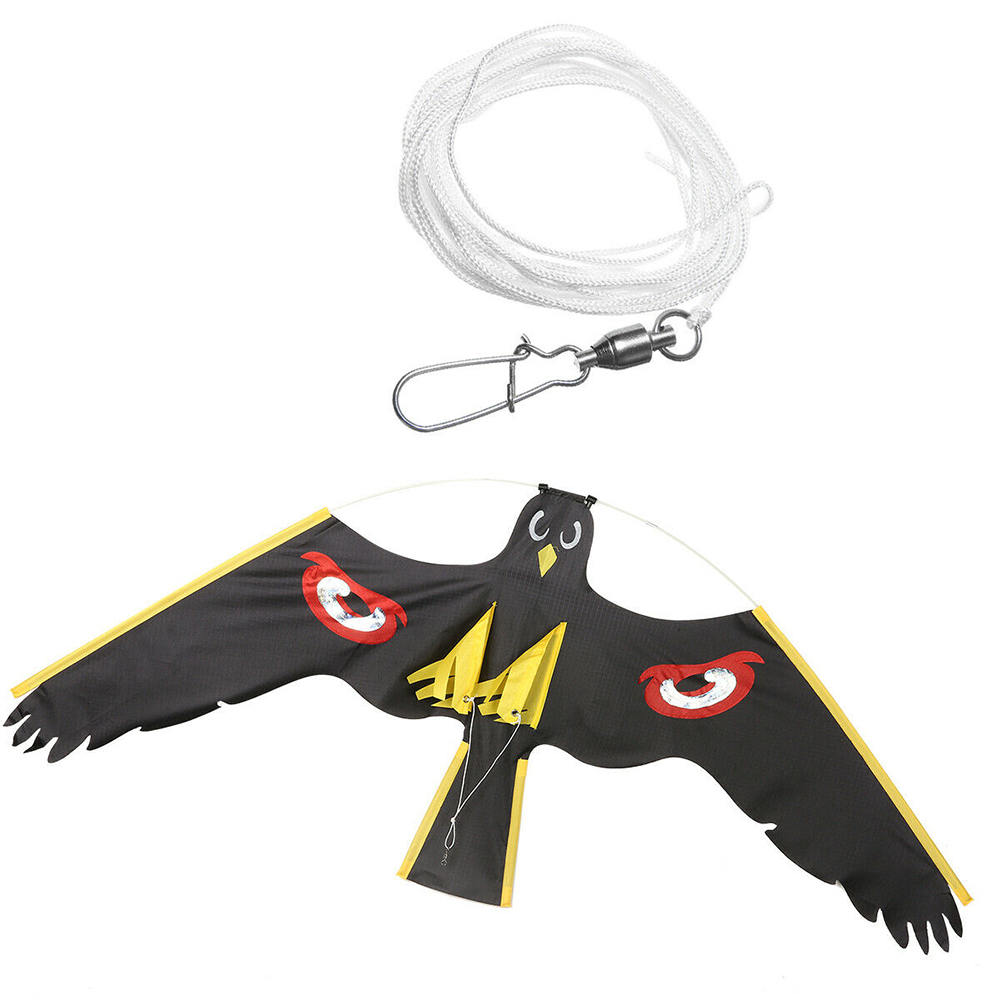 Emulation Black Bird Repellent Hawk Flying Kite Scarer Bird Repeller Pigeon Repellent Insect Pest Prevention Garden Supplies