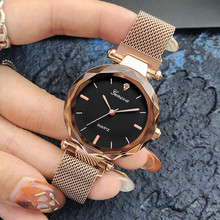 Luxury Rose Gold Women Watches Crystal Female Stainless Steel Mesh Quartz Wrist Watch Montre Femme 2018 Exquisite Ladies Watch