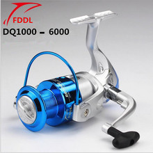 FDDL Brand DQ2000-6000 Type 6 axis Plastic plating Fishing Reel Silvery white+Blue Spinning Fishing Reel roller sea rod fishing