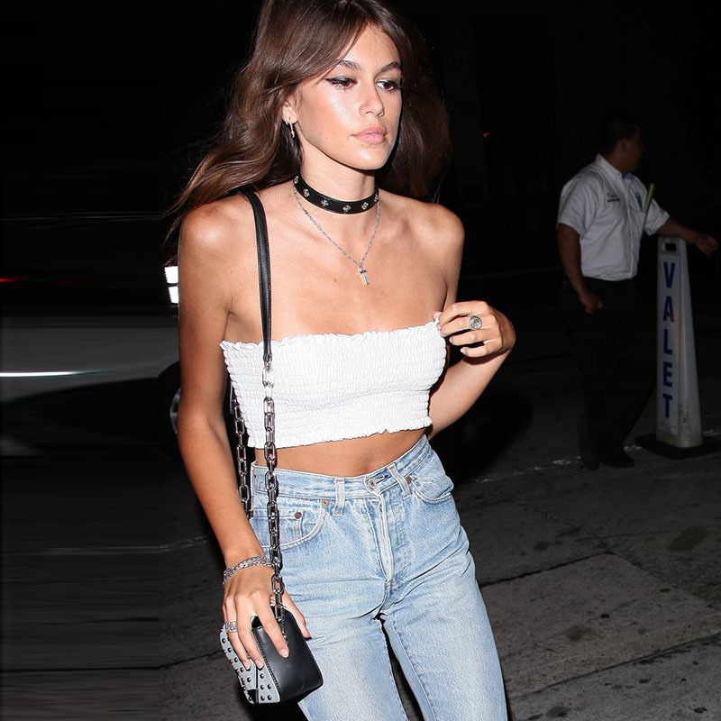HTB166yjgHsTMeJjy1zeq6AOCVXaH - FREE SHIPPING Solid Cropped Tube Top Layering Bandeau Stretchable Spandex JKP323