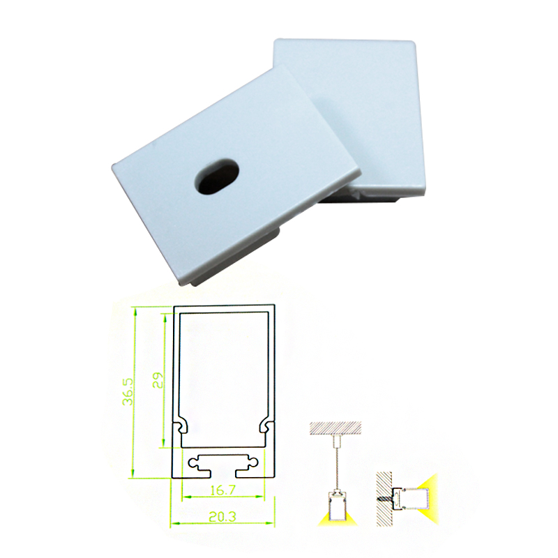 6 sztuk / paczka LED profil aluminiowy Bar Światła lampa wisząca 1 - Oświetlenie LED - Zdjęcie 2