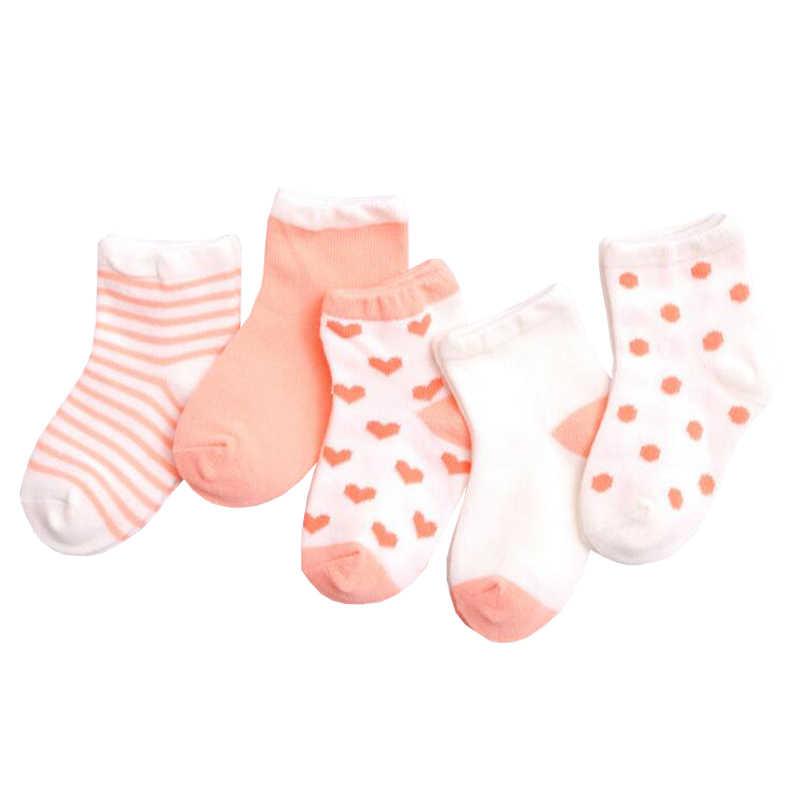 Amya Baby 5 pares calcetines de bebé de algodón recién nacido calcetines para bebé niña niño Unisex niños niñas calcetín corto 8 colores