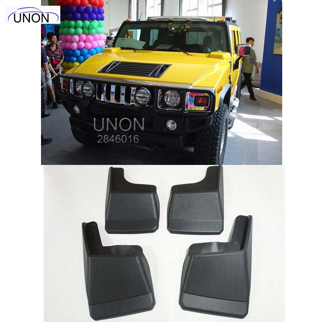 Online buy wholesale hummer h2 from china hummer h2 wholesalers fit for 2003 2009 hummer h2 molded mudflaps mud flap splash guard mudguards front rear vanachro Images