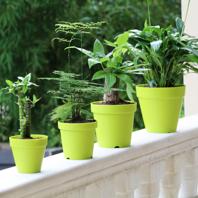Free Shipping Six Colours Plastic Clay Flower Pot For Plant Home And Garden