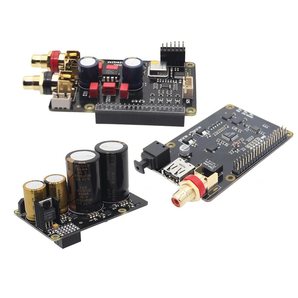 Raspberry Pi X20 Hifi Audio Kit (X20 ES9028Q2M DAC Board/ X10 I2S Board/ X10 PWR Power Supply Board/ X10 HPAMP Amplifier(KitB) )-in Demo Board from Computer & Office    3