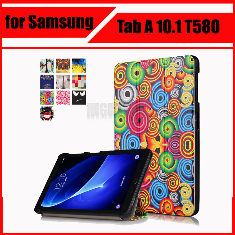 Magnetic Stand pu leather Case for Samsung Galaxy Tab A 10.1 2016 T580 T585 T580N T585N tablet cover cases + Screen Protector max q hot business stereo stand case for samsung galaxy tab 2 7 0 p3100 p3110 pu leather case protective book cover cases