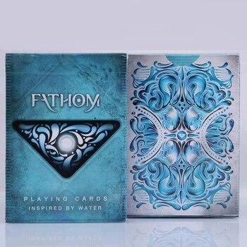 1 DECK Fathom Premium Ellusionist Deck Playing Cards Magic Tricks New USPCC Magic Card tally ho playing cards magic deck magic tricks cardistry deck