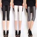 Капри женские брюки плюс размер джинсы глянцевая глянцевая тонкий 7 узкие брюки