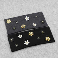 Fashion Solid Women Daisy Floral Cotton Headbands New Spring Summer Thin Soft Stretch Hairbands For Women Girls Hair Accessories