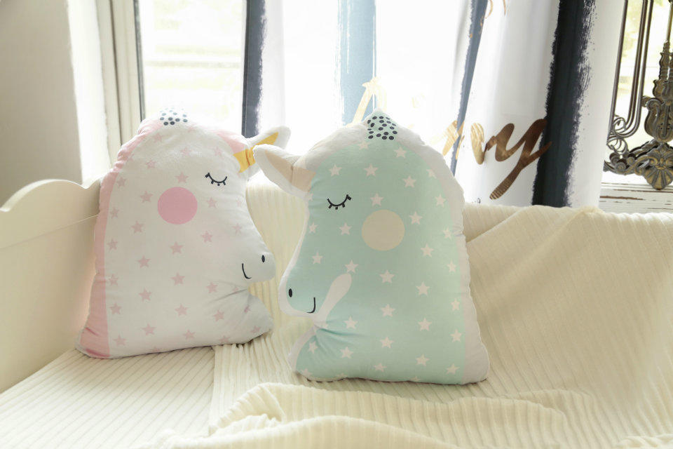 New Cartoon Animal Shape Pillow Unicorn Pony Cushion Pillow Baby Bed Decoration Pillow Gift