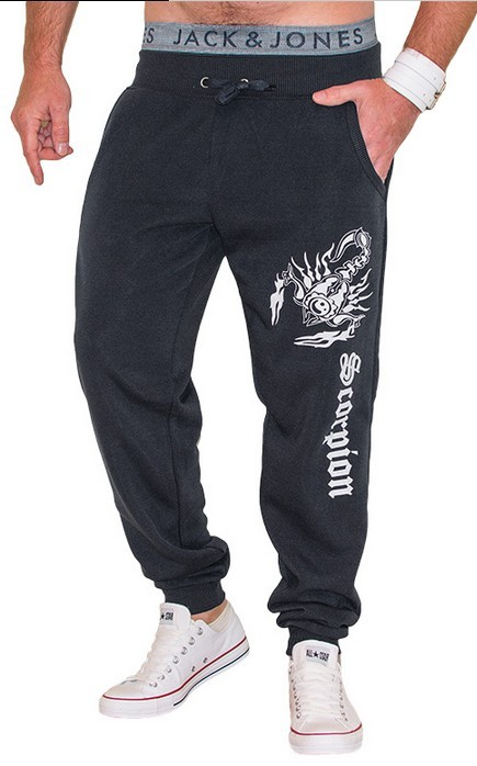 Free Shipping Men 's Casual Trousers Scorpion Printing Design Pants Tide Goods Fashion Large Size High - Quality