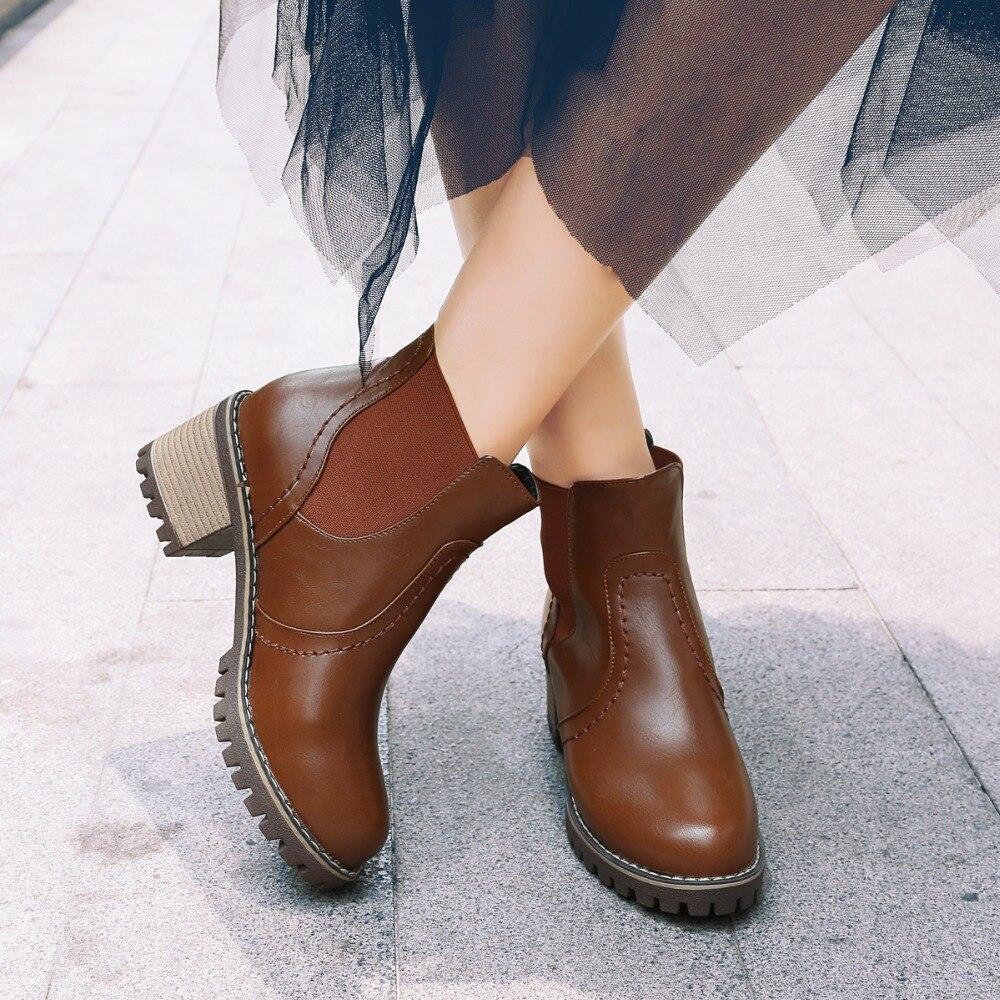 Doc Martens 2018 Vintage british genuine classic boots Martin thick boots  motorcycle heel Boot Feminina Women 850ba9c6c4a4