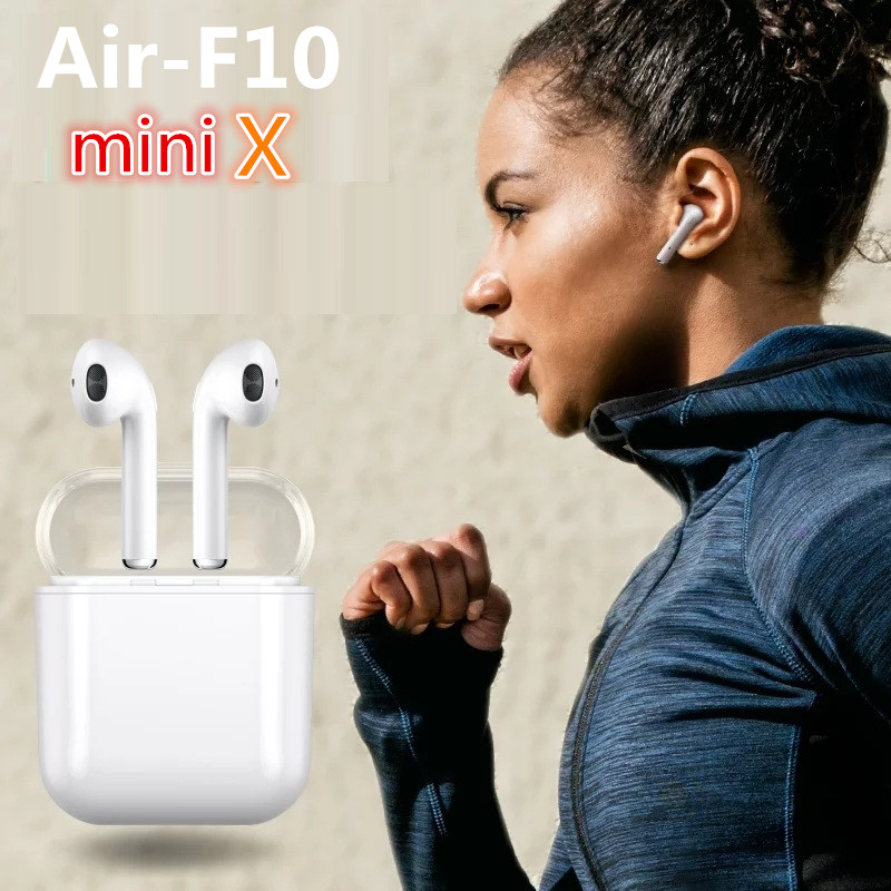 New mini AIR-F10 Wireless Bluetooth earbuds double ear earphone headsets not Air pods For android Apple iPhone X/8/7/7s new dacom carkit mini bluetooth headset wireless earphone mic with usb car charger for iphone airpods android huawei smartphone