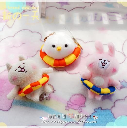 Плюшевая японская игрушка брелок Кролик, курица и собака 2
