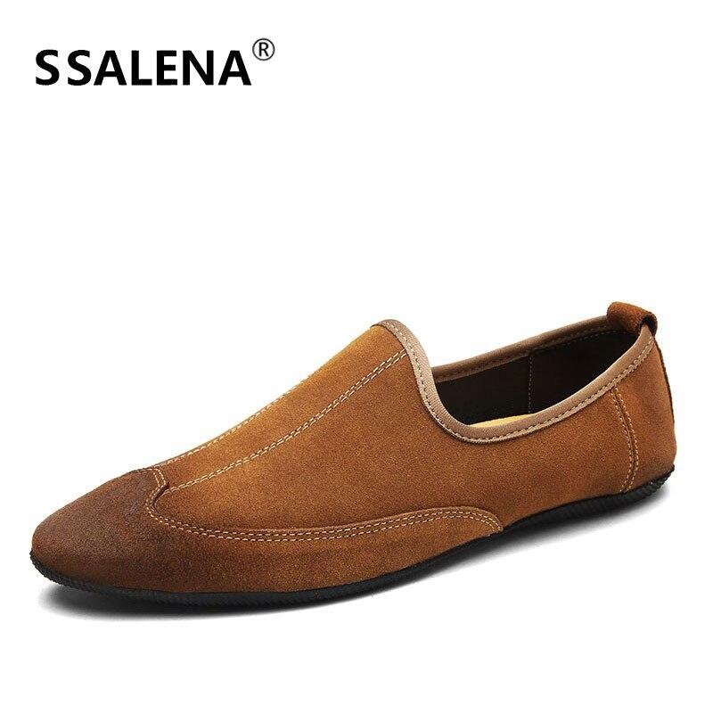 Sport Chaussures Souple Aa52102 marron Conduite Respirant Daim De Hommes Vintage Noir Style En Cuir Mocassins Confortables qSXwRf