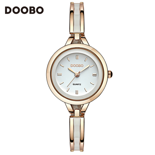 2017 Luxury Women Watch Famous Brands Gold Fashion Design Bracelet Watches Ladies Women Wrist Watches Relogio Femininos DOOBO