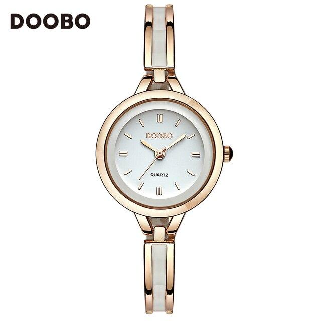 2017 Роскошные Для женщин часы известные бренды золото модные Дизайн браслет Часы дамы Для женщин наручные Часы Relogio femininos doobo