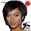 Perucas Femininas Sleek Afro boy cut Short pixie wigs for black women Synthetic african american wig with bangs