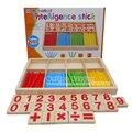 Manipulativos de matemáticas De Madera Palos de Conteo Niños Juguetes Educativos Preescolares Varillas De Madera Tarjetas de Números Y Contando Con la Caja