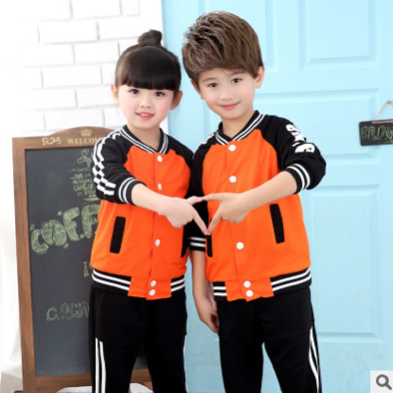 Boys and Girls Sports Clothing Set 2018 New Spring and Autumn Kids Clothes Sets Children 2 Patchwork Colors Size110-180 ly001 new 2017 baby clothing set cartoon kids apparel boys girls children hoodies and pant children s clothing sets for autumn