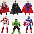 1 unids pieza superhéroe vengadores Iron Man Hulk Capitán América Superman Batman acción figuras regalo colección de juguetes para niños