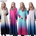 Длинные Градиент Цвета Платье Кафтан Исламской Мусульманской Абая Женщин Турецкая Абая Мусульмане Ближнего Востока Арабских Одеждах Одежда Леди Платье