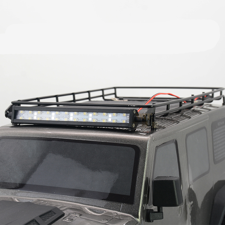1Set Metal RGT86100 Luggage Rack Carrier with Car Light Headlight P860016 for RC Model Spare Parts
