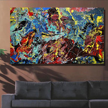 Modern Abstract Art line painting Canvas Wall Art Picture On Prints poster home decor canvas art oil painting No frame(China)