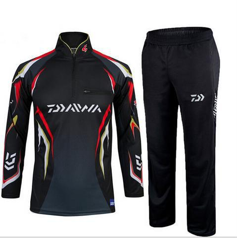 2017 warm fishing clothing sets men breathable sun uv for Uv fishing shirts